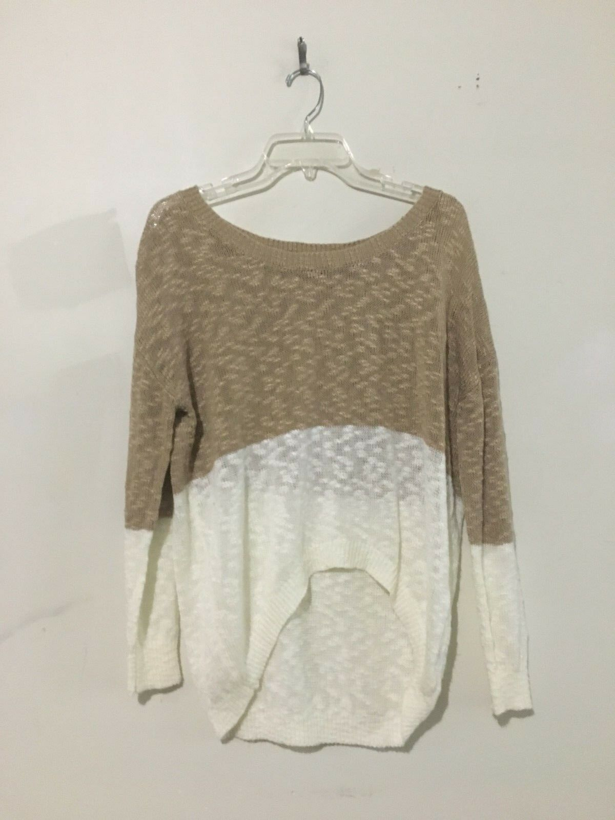Papaya Tan Cream Sweater Women Top Blouse Stylish Size S Comfy StyleSW0005B
