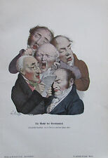 1904 Boilly DEI MACHT DER BEREDSAMKEIT Karikatur alter Druck old print