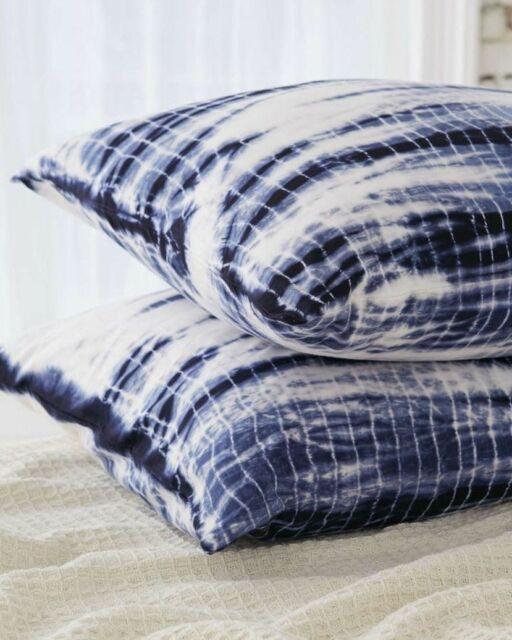 Urban Outfitters Shibori Streak Jersey Pillowcase Set Set of 2 NIP $39 Standard