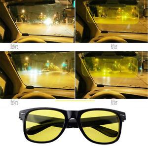 99fdb712f6b Night Sight Driving Glasses HD Sunglasses Anti Glare Night Vision PQ ...