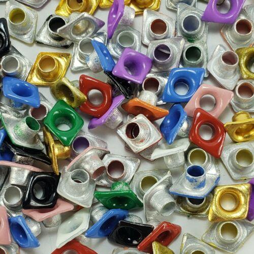 120 Diamond Shape Eyelets Embellishments Crafts 12 Colors Scrapbooking Stamping