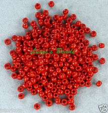 8/0 Round TOHO Japanese Glass Seed Beads #45-Opaque Pepper Red 15 grams