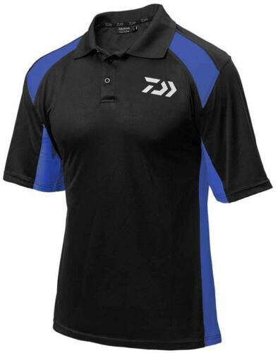 Daiwa Polo shirts Black//white,Black//Red and Black//Blue New for 2018 All sizes