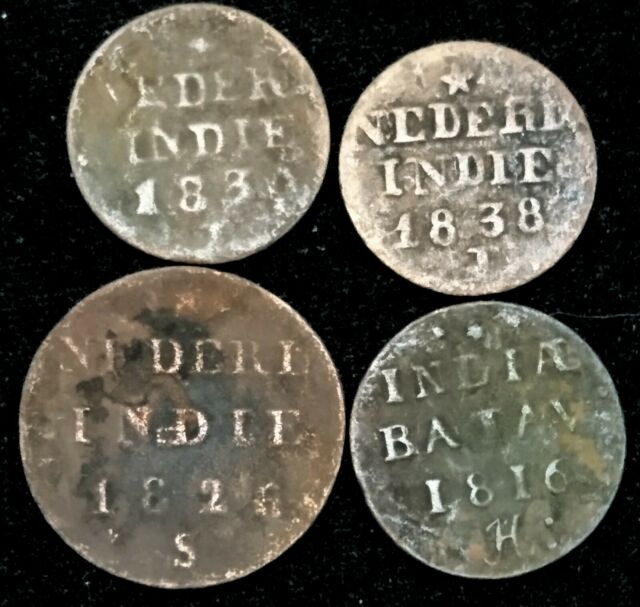 LOT OF 3 NETHERLANDS EAST INDIES 1//4 GULDEN SILVER AU COINS