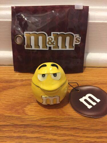 YELLOW M/&M BIG FACE MONET JEWELRY BOX ENAMELED NEW $25