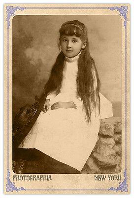 J EDGAR HOOVER FBI Founder Vintage Photograph A Reprint Cabinet Card