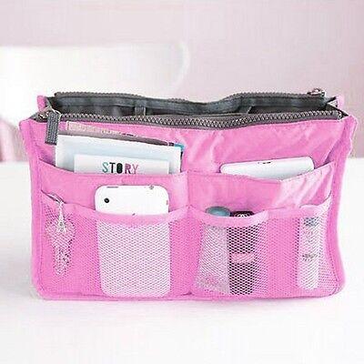 Hotsale 7 Colors Dual Organizer Cosmetic Book Phone Storage Nylon Zipper Handbag