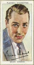 Brian Aherne 1938 John Player Film Stars Tobacco Card 3rd Series #1