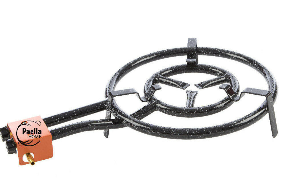 45cm Authentic Paella Pan Two RIngs Gas Burner , for 34cm to 60cm Paella Pan