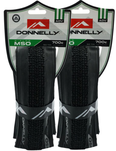 1 or 2-PACK Donnelly X/'PLOR MSO 700 x 32c or 36c Folding CX Bike Tire 60 TPI