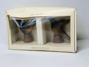 NEW-Pottery-Barn-Pheasant-Salt-amp-Pepper-Shaker-Set-Thanksgiving-Birds-NEW