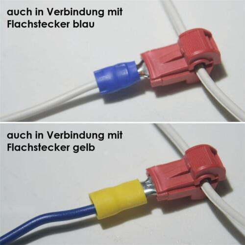 500 connettore rapido per cavi Scarpe Rosso 0,5-1,5mm² elettricità ladri Connettore raccordo a Y