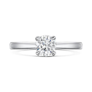 0-50-Ct-Real-Diamond-Engagement-Ring-14-Kt-White-Gold-Round-Band-Ebay-Sale