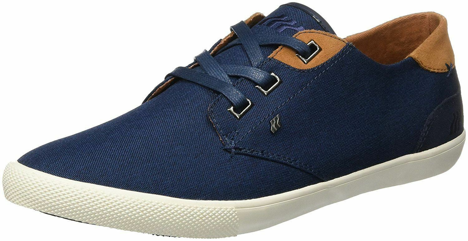 Boxfresh Stern Navy Tan Waxed Canvas Mens Trainers schuhe