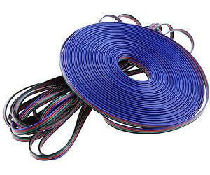led rgb kabel 4 adrig strip anschlu kabel verbindung verl ngerungskabel 20 meter ebay. Black Bedroom Furniture Sets. Home Design Ideas