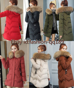 3a8666a708b 2019 Women Winter Hooded coat 100% Real Fur Collar Down Coat Down ...