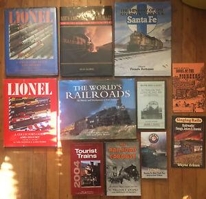 Lot-of-Railroad-Books-amp-Videos-Great-Lot-Lionel-Steam-Locomotive-Railway-Train