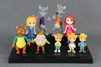 9pcs Goldie and Bear Fairy Tale Forest Friends PVC Action Figures Dolls Toys Set
