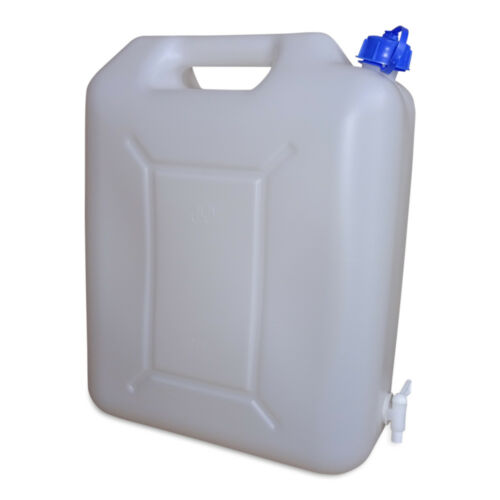 integrierter Auslaufhahn 5 10 15 20 L Kanister Trinkwasserkanister Farbe natur
