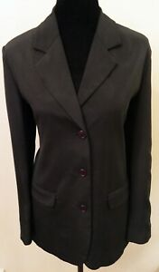 Brooks Brothers Womens Single Breasted Blazer Size 6 Black Long Sleeve 100% Silk