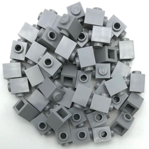 Lego 50 New Light Bluish Gray Bricks Modified 1 x 1 with Stud on 1 Side