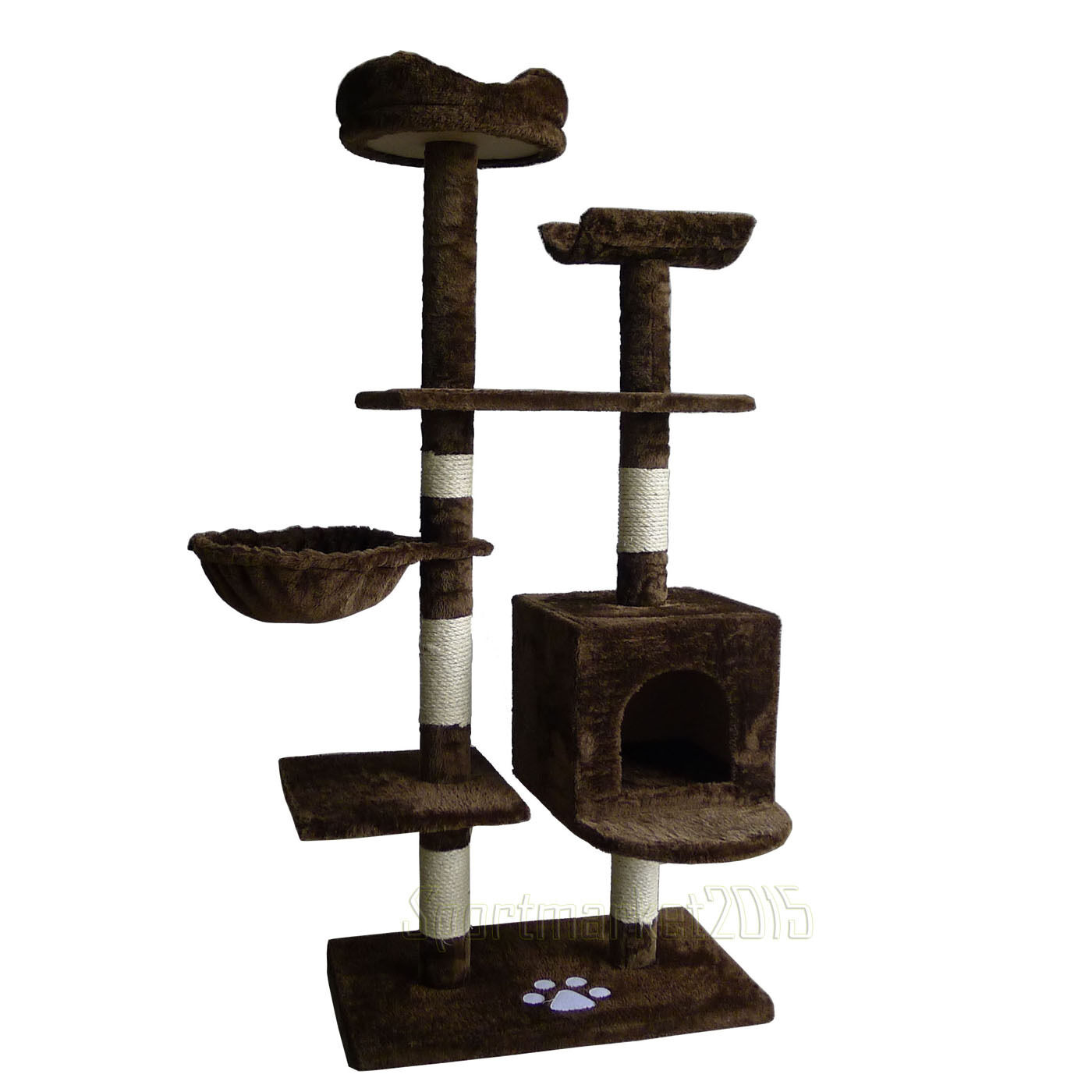 52  Cat Pet Tree Tower Scratcher Post Furniture Kitten Play Toy House Condo