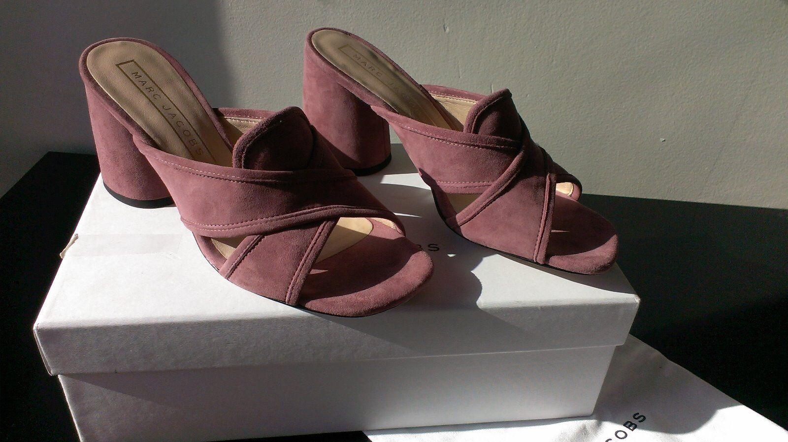 Marc Jacobs zapatos mule sabot daim 37 rosado neuves pointure 37 daim 6502eb