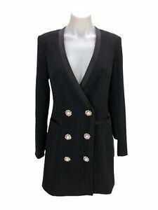 Jay-Godfrey-Farren-Black-Tuxedo-Dress-with-Embellished-Buttons-Women-s-Size-2