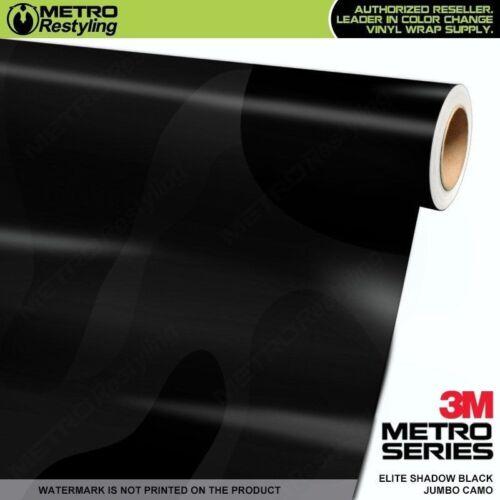 JUMBO ELITE SHADOW BLACK Camouflage Vinyl Vehicle Car Wrap Camo Film Sheet Roll