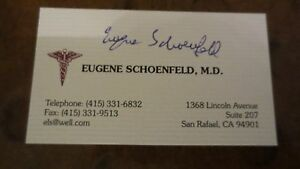 Eugene schoelfeld dr hippocrates signed autographed business card image is loading eugene schoelfeld dr hippocrates signed autographed business card reheart Images