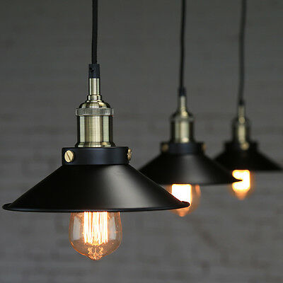 Vintage Fixture Pendant Lamp Ceiling Lights Bulb Industrial Chandelier Lampshade