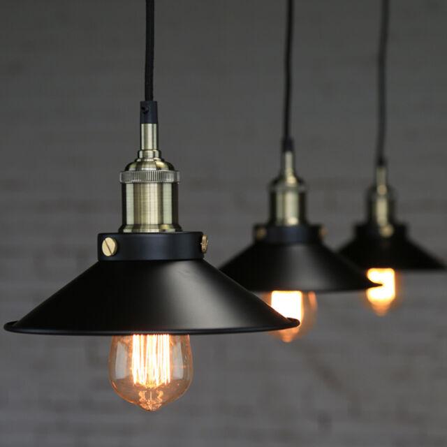 1pc Industrial Pub Loft Pendant Lamp Shade Bar Metal Ceiling Light Lampshade