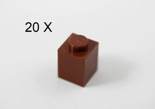 LEGO® Reddish Brown Brick 1 x 1 Design ID 3005