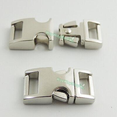 """3/8"""" 10mm Metal Buckles Side Release Paracord Shackle webbing strap for Bracelet"""