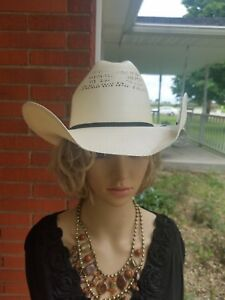 c6e9570cd JUSTIN authentic Western Headwear By MILANO HAT CO. 20X size 7 1/8 ...