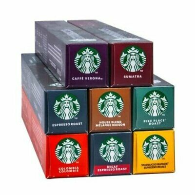 STARBUCKS BY NESPRESSO 10 PODS / PACK COFFEE CAPSULES MADE ...