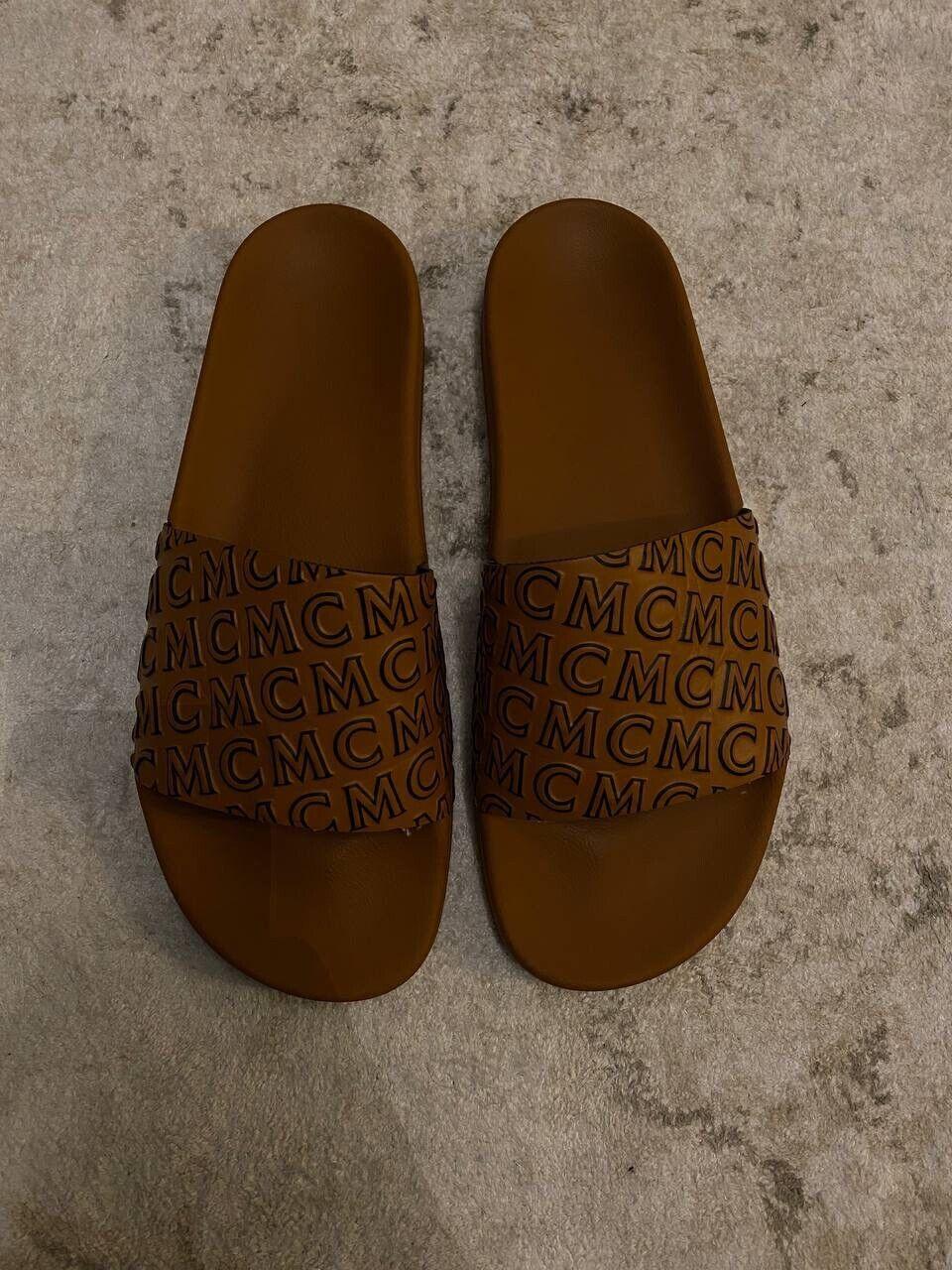 Authentic Rare MCM Slides / Slippers / Sandals Size US 12 EU 45 Collection 2021