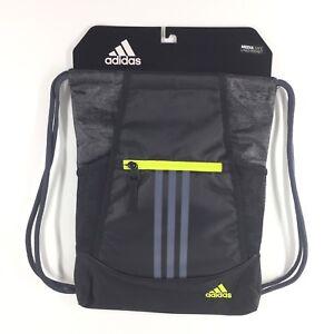 b787b7b1f Adidas Alliance II Sackpack Black Jersey Onix Semi Solar Yellow Bag ...