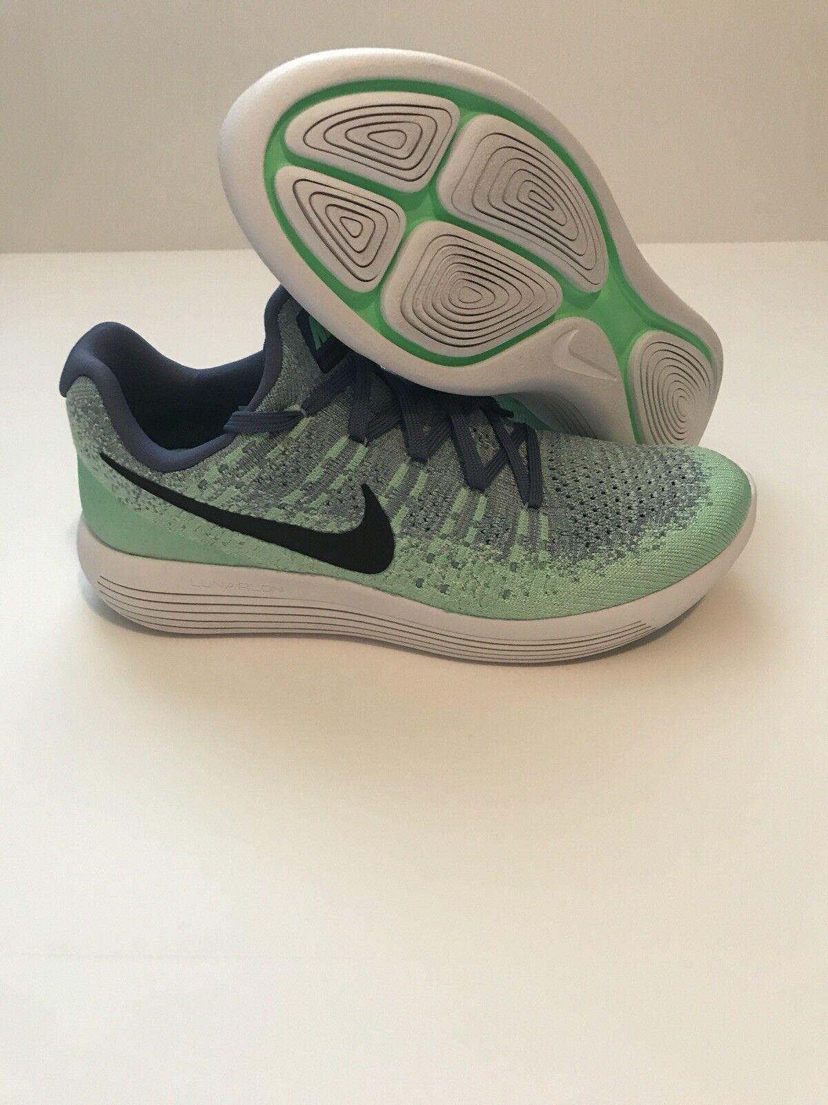 New Nike Womens Lunarepic Low Flyknit 2 Blue Moon Running Shoes sz 10