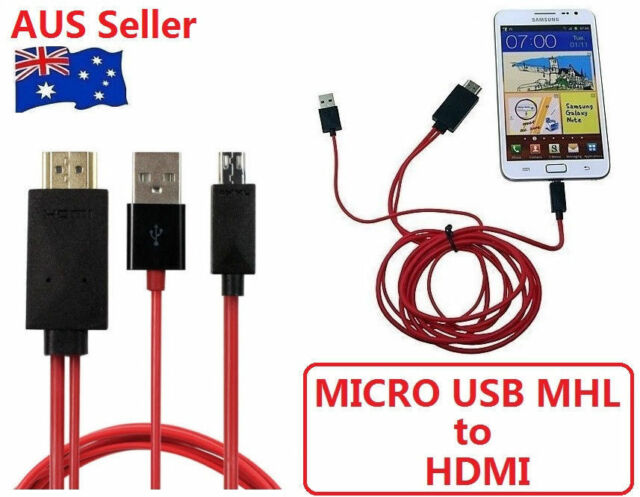 MHL Micro USB To HDMI 1080P HD TV Adapter Cable For Samsung Galaxy S5 S4 Note