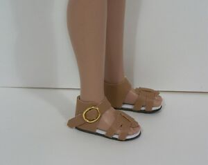 "Debs CREAM Strappy Sandals Doll Shoes For Robert Tonner 12/"" Marley Wentworth"
