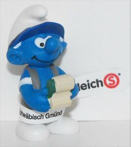 20772-Accountant-Smurf-Figurine-from-2015-Office-Set-Plastic-Miniature-Figure