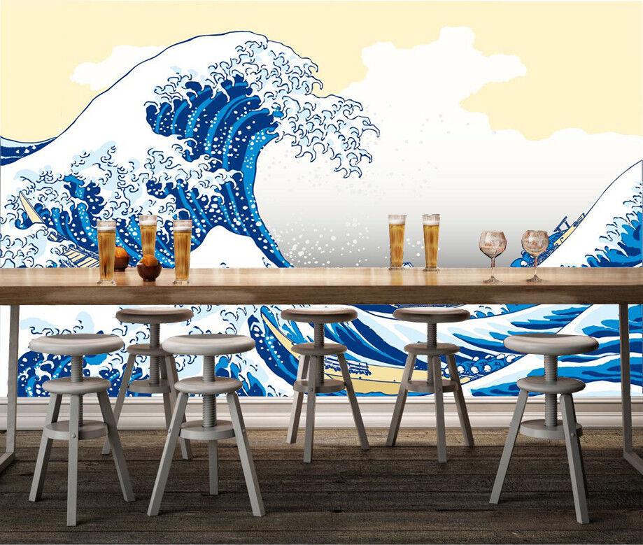 3D Karikatur Meereswellen 8963 Tapete Wandgemälde Tapeten Bild Familie DE Kyra