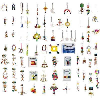 Prevue Hendryx  50 Piece WHOLESALE LOT of Bird Toys Parakeets to Parrots