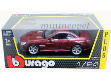 BBURAGO 18-21067 MERCEDES BENZ SL 500 HARD TOP 1/24 DIECAST RED