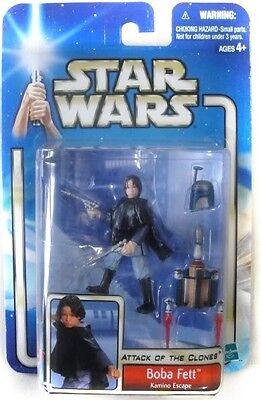 Star Wars Attack of the Clones Jango Fett Kamino Escape Figure 2002 NEW