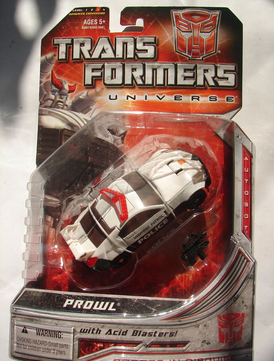 Transformers Universe PROWL  Deluxe Class AUTOBOT  RID MOC MIP  2008  914