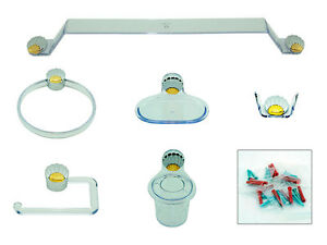 Image Is Loading New Mixage Bathroom Accessories Silver Gold Shell Effect