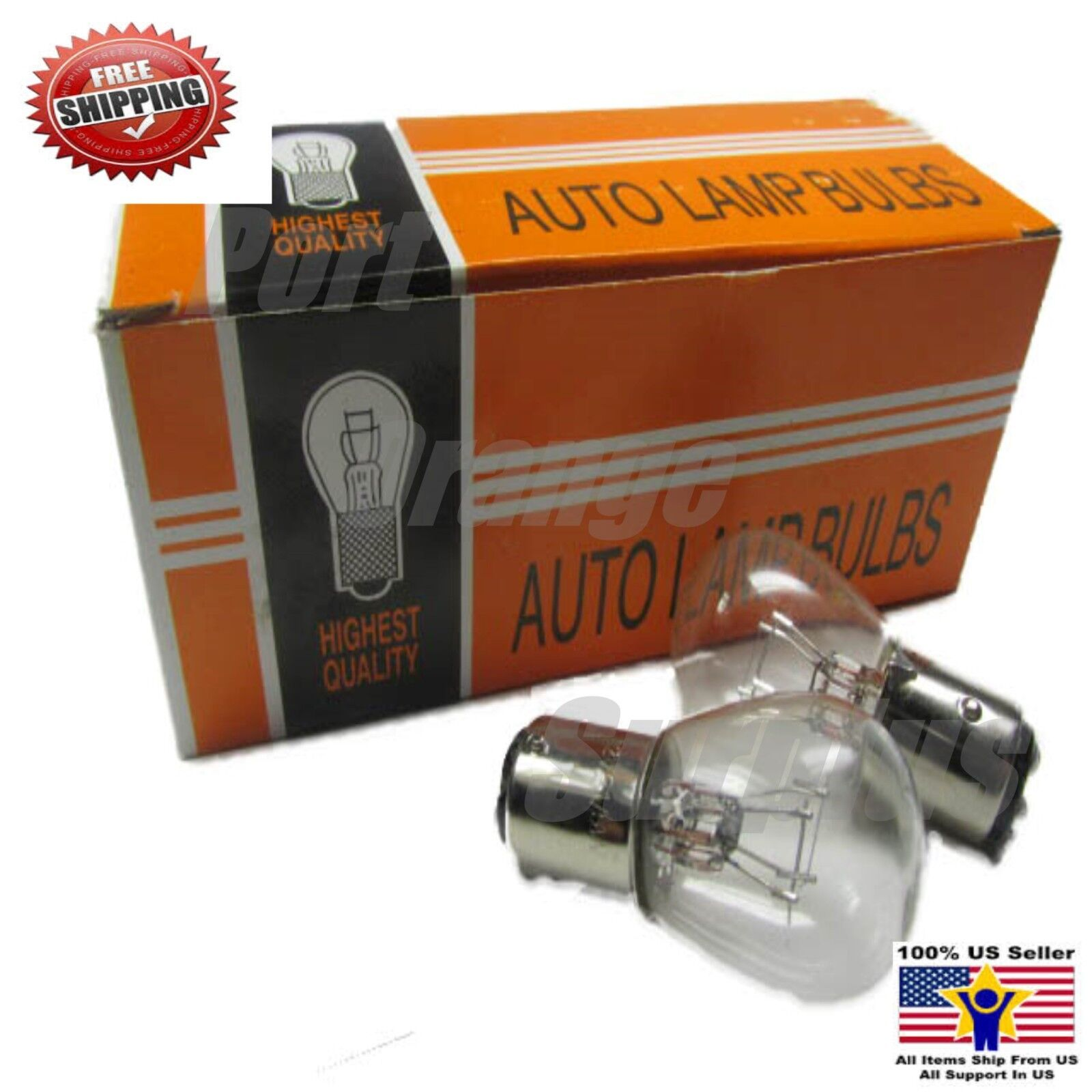 12v 10//5w Bulb Turn Signal Tail Light Scooter Moped Bulbs 2 Pin Clear