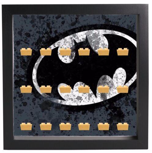 Lego Minifigures Display Case Picture Frame DC Comics Batman Symbol
